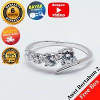 RL 225 - Cincin Perak Sterling 925 Emas Putih ASLI Korea, Awet 7 thn
