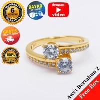 RL 236 - Cincin Perak Sterling 925 Emas Putih ASLI Korea, Awet 7 thn