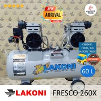 FRESCO260X 260 X Kompresor Compressor Oilles Silent 2x1 HP 60 L LAKONI