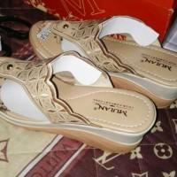 Sandal Wedges Motif Batik