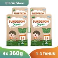Paket 4 Box PUREGROW Organic - Susu Formula Organik 1-3 thn 360gr Boy