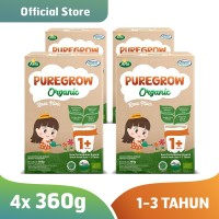 Paket 4 Box PUREGROW Organic - Susu Formula Organik 1-3 thn 360gr Girl