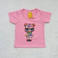 pakaian wanita / tshirt LOL cute lampu LED 2 , kaos anak perempuan