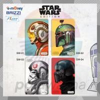 Kartu E-Toll Custom Print Star Wars - Emoney Flazz Brizzi Saldo 0