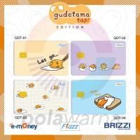 Kartu E-toll Custom Gudetama 1 SISI - Emoney Flazz Brizzi Custom Print