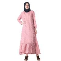 Inficlo Pakaian Gamis Wanita Muslimah Ruby Salem SRT 628