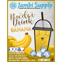 bubuk minuman powder drink Banana