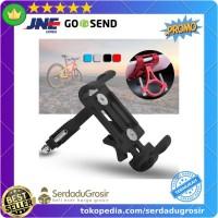 Mount Holder Smartphone HP Sepeda Aluminum Handlebar Bracket Anti Slip