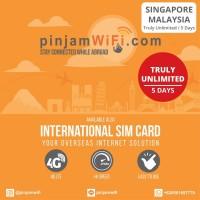 Sim Card Singapore Malaysia Truly Unlimited 5 Days | Simcard Singapura