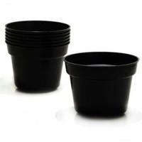 pot hitam polos 25 cm via gosend