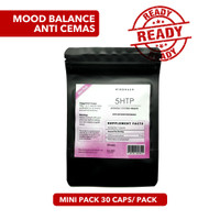5 HTP - Suplemen Obat Vitamin Mood Otak Tenang Tidur Stress Modafinil - MINIPACK 30CAPS