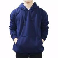 Sweater Hoodie Polos Navy, Size L,XL,XXL Pria Wanita