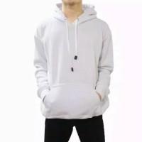 Sweater Hoodie Polos Putih L, XL, XXL Pria Wanita