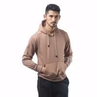 Sweater Hoodie Polos Mocca Size L,XL,XXL Pria Wanita