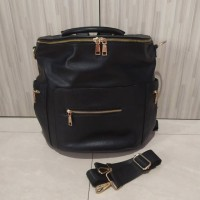 Tas Bayi Diaperbag LUXURY LEATHER BACKPACK NAPPY BAG FOR BABY/ FASHION