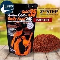 AMS Gold 35 Daily Food 2nd Step ||Bentuk Voer Kasar Silinder Isi 250gr