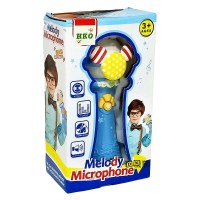 Mainan Anak Melody Microphone Mic Single Nyanyi Karaoke Super Voice