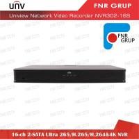 Uniview 16 Ch PoE 2-SATA Ultra 265 H.265 H.264 4K NVR NVR302-16E-P16-B