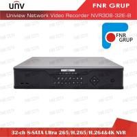 Uniview 32 Ch 8-SATA Ultra 265 H.265 H.264 4K NVR NVR308-32E-B