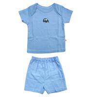Baju Bayi Laki PLEU Setelan Baju Pendek Polos Boy