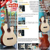 New Hot Product banyak bonus Gitar Akustik Yamaha Softcase Pick Senar