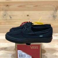 Sepatu Vans Zapato Del Barco All Black Sneakers Pria Premium