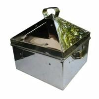 Klakat/ Kukusan kotak stainless steamer ukuran 45x45 cm