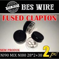 FUSED CLAPTON NI90 MIX NI80 28*2+38 Gauge Germany |Prebuild Coil
