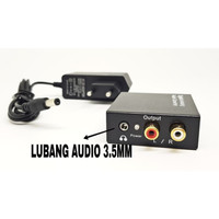 CONVERTER AUDIO DIGITAL TO ANALOG WITH AUDIO 3.5MM COAXIAL TO RCA