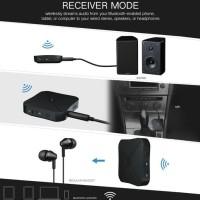 BLUETOOTH 2 IN 1 TRANSMITTER & RECEIVER AUDIO SPEAKER EARPHONE TV CAR
