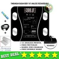 Timbangan Badan Digital Body Fat Health Smart Scale 180KG Recharge