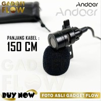 DUAL Microphone Mic Clip On DELUXE 3.5 mm Duet Mic For Andro SSfx5183