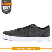 Sepatu Sneakers Nike SB Check Solarsoft Canvas PRM Dark Grey Original