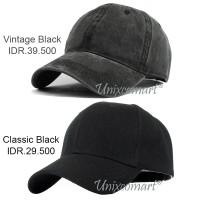 Plain Topi Baseball Hat Cap Casual Sport Distro Polos Pria Wanita