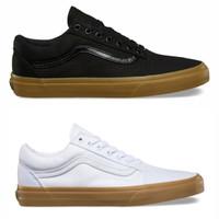 [Grade Original] Sepatu Vans Oldskool Sol Gum - Hitam, Putih - Hitam, 36