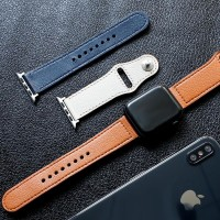 Leather Strap Apple Watch 44mm 40mm 42mm 38mm