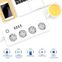 STOP KONTAK SMART PLUG SOCKET 4 COLOKAN 4 USB 3.1A FAST CHARGING TIMER