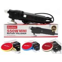 Mesin Poles MaxShine M550 Mini Rotary Polisher with Foam Pad Kit