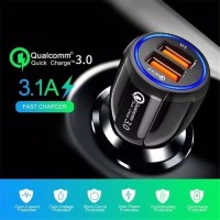 Qualcomm 3.0 - Charger Mobil - Car Charger - Quick Charge Dual Port