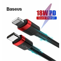 Baseus Type C to iP 18W PD Fast Charge USB Cable Zinc Alloy Nylon,, 1m