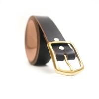 Ikat Pinggang Sabuk Kulit Natural Vegtan Eather Black Leather Belt