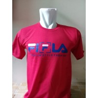Kaos T-Shirt Fila Red Dsitro Paling Laku