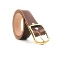 Ikat Pinggang Sabuk Kulit Natural Vegtan Brown Eather Leather Belt
