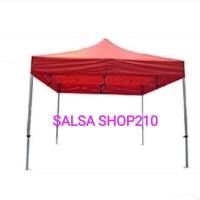 Tenda Lipat Gazebo 3x3 Meter Merah dan Biru Folding Tent 3 x 3