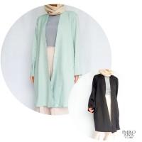 Outer Wanita Panjang POLOS - Emikoawa Outerwear Vest Cardigan Premium - Hijau