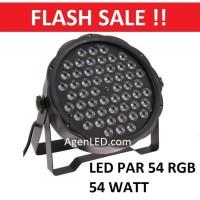 Lampu Sorot Panggung LED PAR RGB mata Disco warna warni RGBW 54 w watt