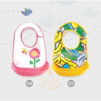 Slabber Plastik / Celemek Bayi / Slaber Waterproof / Baby Bib - Blue Bear