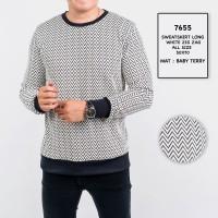 Sweater Pria / Sweater Lengan Panjang Motif