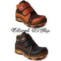 Sepatu Anak Laki-laki Boots Semi Kulit / Safety Anak Formal Pesta - 26, Cokelat