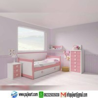 kamar set anak warna pink, kamar set anak perempuan